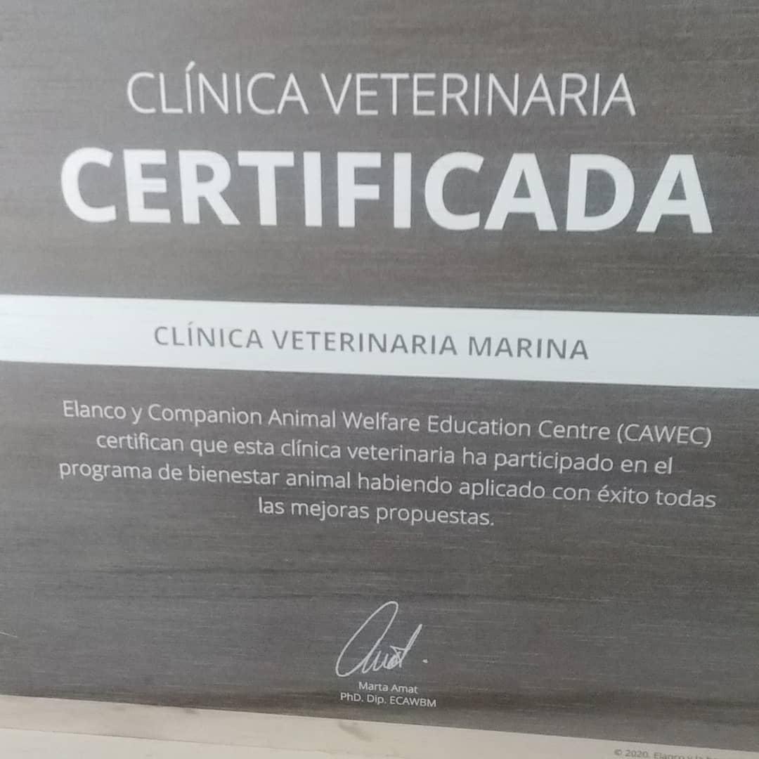 certificació CAWED benestar animal cvetmarina